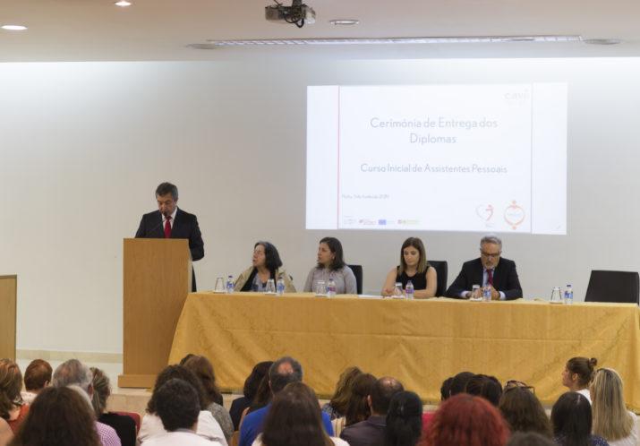 Cerimónia de Entrega dos</br>Diplomas aos formandos do</br> Curso Inicial para</br> Assistentes Pessoais